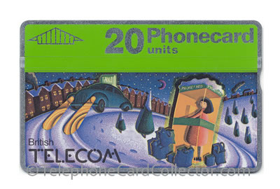 BTC029: Christmas 1990 20unit - BT Phonecard