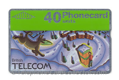 BTC030: Christmas 1990 40unit - BT Phonecard