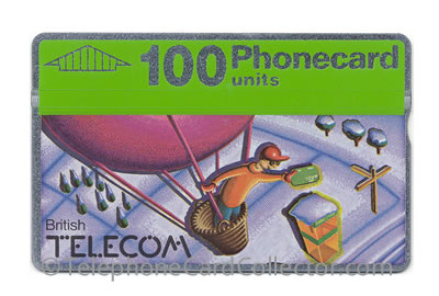BTC031: Christmas 1990 100unit - BT Phonecard