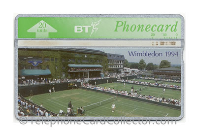 BTC115: Wimbledon Tennis 1994 - BT Phonecard