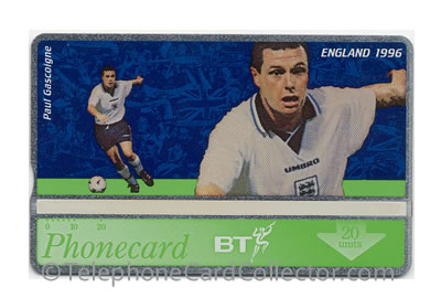 BTC178: Euro 96' (5) Paul Gascoigne - BT Phonecard