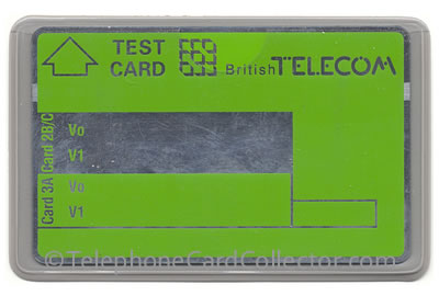 BTT005 - Blank BT Test Card with no numbers/values.