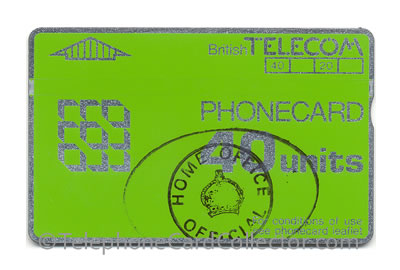 BT Prison Phonecards issued between 1987 and 2004