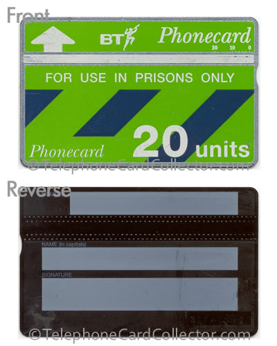 CUP009: Prisons Only (Thin Plastic - 3/4 Face) - BT Phonecard