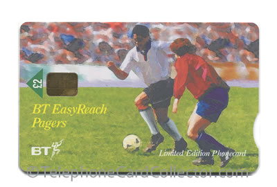 PRO393: BT EasyReach Pagers - World Cup 1998 - England - BT Phonecard