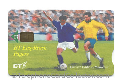 PRO394: BT EasyReach Pagers - World Cup 1998 - Scotland - BT Phonecard