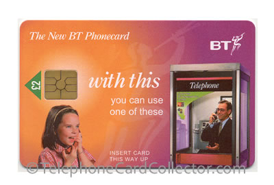 PUB003: £2 1st National Issue - BT Phonecard