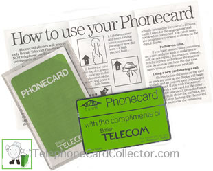 how to use your Phonecard instruction leaflet